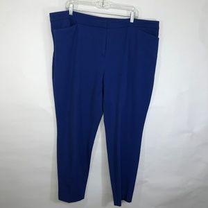 Halogen Nordstrom Ankle Pants Royal Blue 18